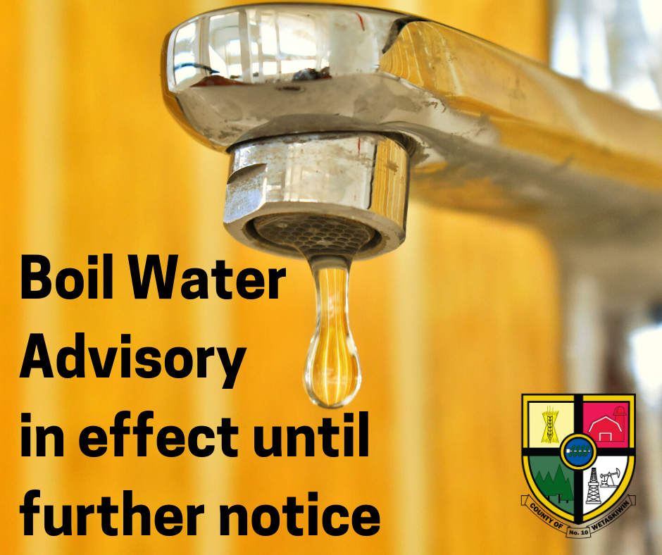 Boil Water Advisory in effect until further notice