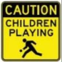 Children Playing Sign